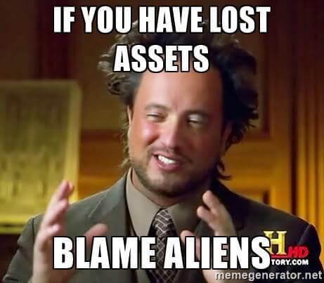 Blame image asset management